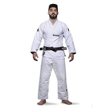 Kimono Jiu Jitsu Atama Trançado Classic - Branco-A1