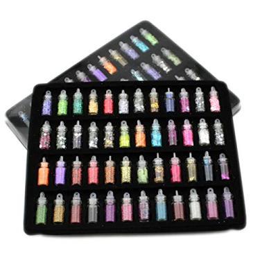 Imagem de angwang Miçangas de geleca, 48 peças de contas de geleca, kit faça-você-mesmo, brinquedos de geleca, berloques de slime para slime de espuma fofa, acessórios de slime