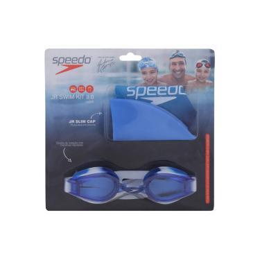 Kit de Natação Speedo Swim 3.0 com Óculos + Touca - Infantil - AZUL Speedo c29fd3eacaaf0