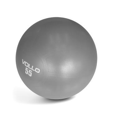 Bola Pilates Gym Ball Com Bomba 55cm VP1034 Vollo - Cinza