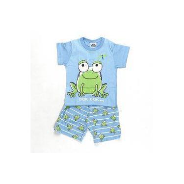 Pijama Croc Croc Azul - Bicho Bagunça