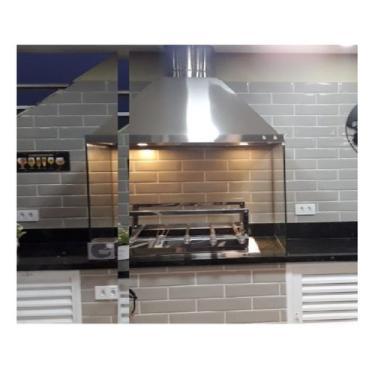 Imagem de Coifa Kit Gourmet 100% Inox 304 Para Churrasqueiras