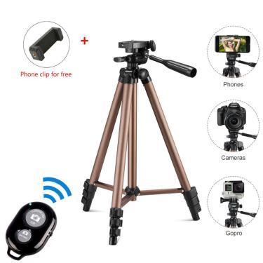 Imagem de Tripé para câmera digital portátil, suporte para celular, câmera, mini tripé para viagem, leve
