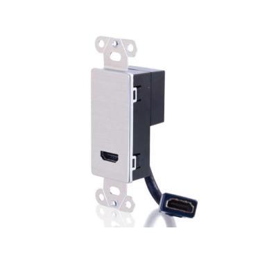 Imagem de Placa de parede de passagem HDMI Cable to Go, Aluminum, null