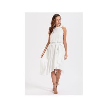 Imagem de Vestido curto mullet  com babados Branco - Ref. 2487