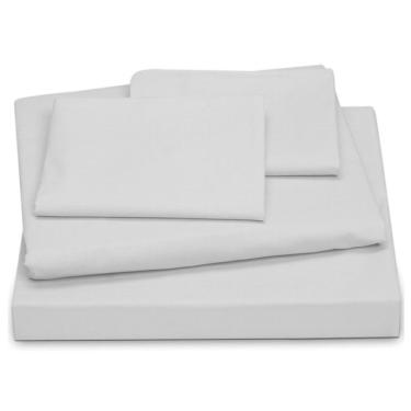 Jogo de cama Casal King 4 peças 200 fios - branco LE