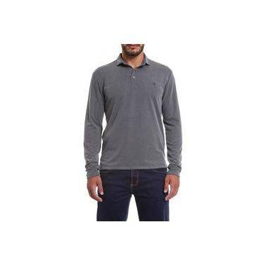 e6abd071e3 Camisa Polo Manga Longa Forum Mescla