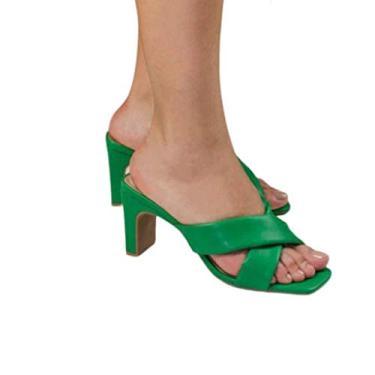Tamanco Flora Tamanho:35;Cor:Verde