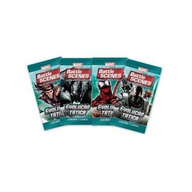 Pack de cartas Marvel Battle Scenes: Evolução Tática em português
