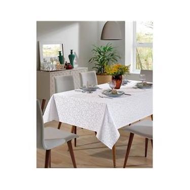 Imagem de Toalha de Mesa - Jacquard - Requinte - Floral - Branca - 1,60m x 2,40m - Dohler