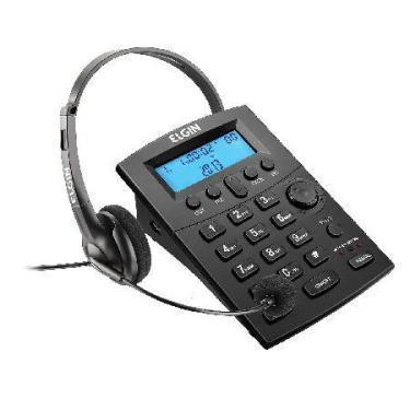Telefone Headset com Identificador de Chamadas HST-8000 Preto