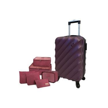 Mala De Viagem Pequena Violeta Lamego Com Kit Organizador