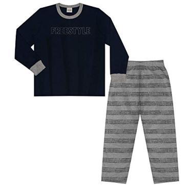 Pijama Infantil Masculino Freestyle Rovitex Kids Azul 3