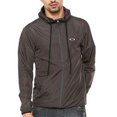 Jaqueta Corta Vento Oakley Windbreaker Forged Iron, Cinza, P