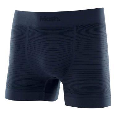 Imagem de Cueca Boxer S/Costura Listr.Irregular, Mash, Masculino, Cinza Chumbo, M