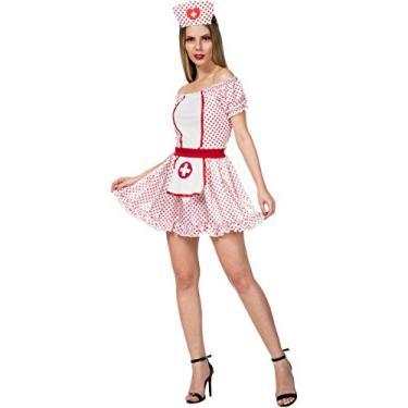 Imagem de Fantasia de Enfermeira Feminina Vestido e Tiara do 34 a 48 (M 38-40)
