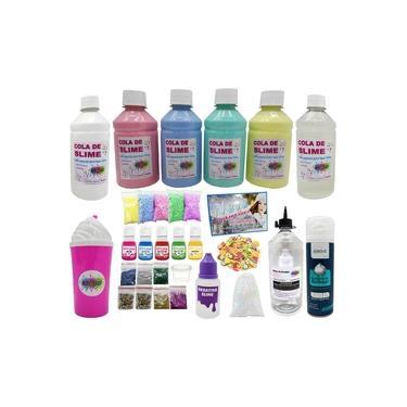 Imagem de Kit P/fazer Slime O Mais Completo De Todos