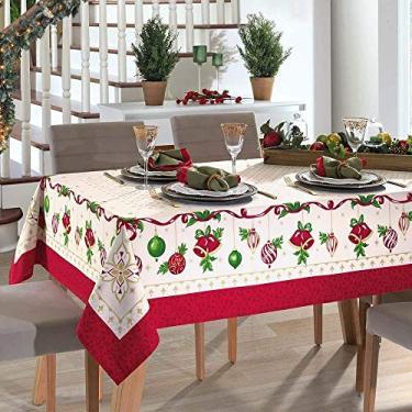 Imagem de Toalha de Mesa Dohler Retangular 8 Lugares Genebra Natal 83