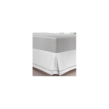 Imagem de Saia Colchão Box Ponto Palito Casal Branca - Kacyumara
