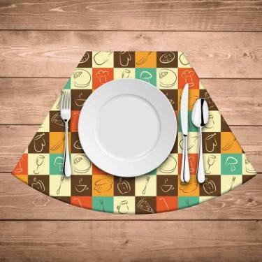 Jogo Americano para mesa Redonda Wevans Quadriculado - Love decor