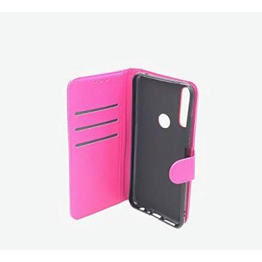 """Capa Capinha Carteira 360 Para Asus Zenfone Max Shot e Max Plus M2 (Zb634kl) Tela de 6.26"""" Polegadas Case Couro Sintético Flip Wallet Para Cartão, Abre E Fecha - Danet (Rosa)"""