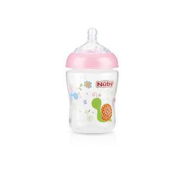 Imagem de Mamadeira Para Bebê Com Bico Largo Normal - 270ml - Nûby