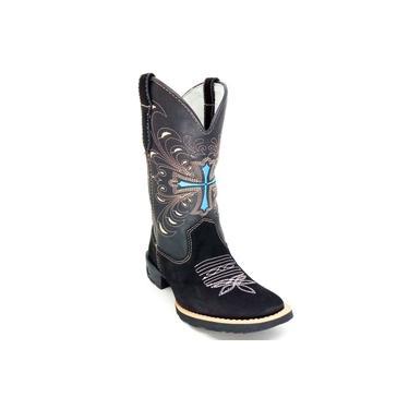 Bota Feminina Mustang Cruz Azul preto