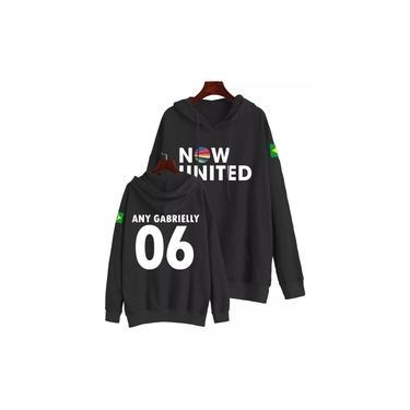 Moletom Infantil Canguru Blusa Now United Any 06 Preto