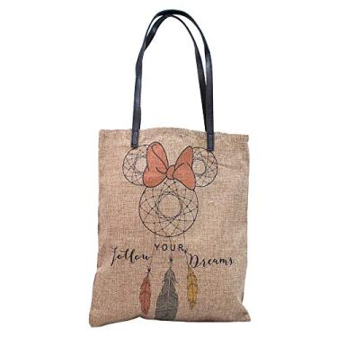 BOLSA MINNIE - FOLLOW YOUR DREAMS, Disney, DMG9003AEMK5D, Marrom