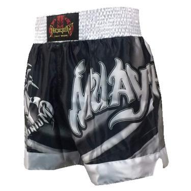 Calção Short Muay Thai - 2798 - Prata - M