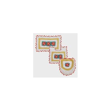 Imagem de Noca - Jogo de Tapetes Para Banheiro em Crochê - 3 Peças