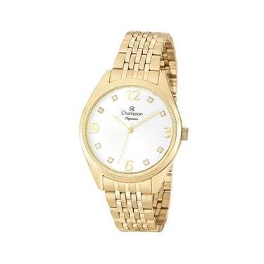 d4a0b128018 Relógio Feminino Analógico Champion CN26251H – Dourado