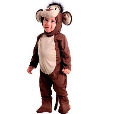 1a650798a9ce7 Fantasia de Macaco Bebê com Capuz Sulamericana Animais - Único 01