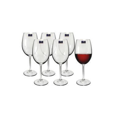 Jogo de Taças 06 Peças para Vinho de Cristal Gastro 480ml Bohemia