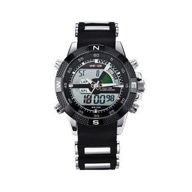 c254ef74944 Relógio Masculino Weide Anadigi Wh-1104 Pr-Pt