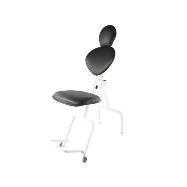 Cadeira de Maquiagem Portátil Design de Sobrancelhas Preta