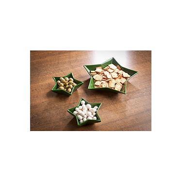 Imagem de Conjunto de Petisqueira Estrela 3 Peças Verde La Cuisine