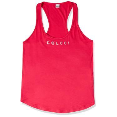 Blusa Regata Logo no Peito, Colcci Fitness, Feminino, Rosa Pretty, P