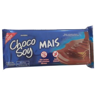 Imagem de Wafer coberto com chocolate chocosoy mais tipo bis Olvebra 62g