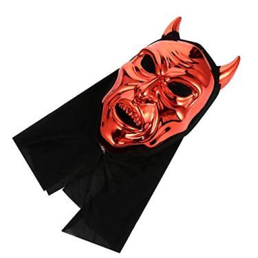 Imagem de Toyvian Máscara de demônio de terror para Dia das Bruxas, pata de Satã, tema chinless, lembrancinhas de fantasia de Halloween