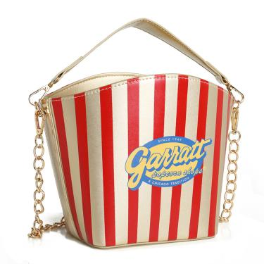 Bolsa Criativa Divertida Popcorn Pipoca City Rock Dourado