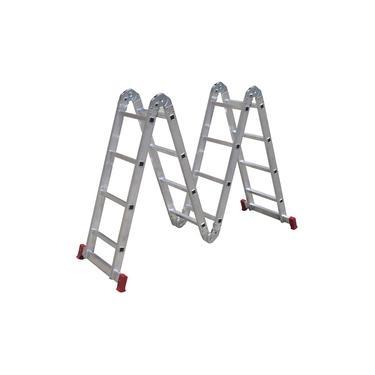 Escada Articulada 13 posições em alumínio - 4x4 - 16 Degraus