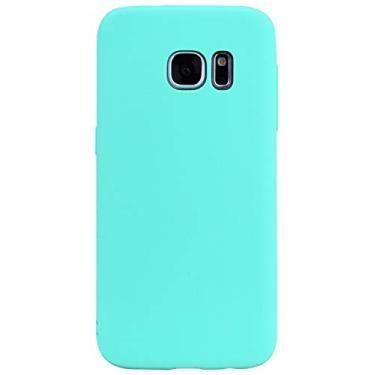 SHUNDA Capa para Galaxy S7 Edge, capa protetora de telefone para Samsung Galaxy S7 Edge 5,5 polegadas - azul claro