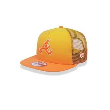 Bone 950 A-Frame Atlanta Braves Mlb Aba Reta Laranja New Era 6884c3a128d