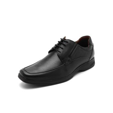 Sapato Social Couro Ferracini Liso Preto Ferracini 3441-562G masculino