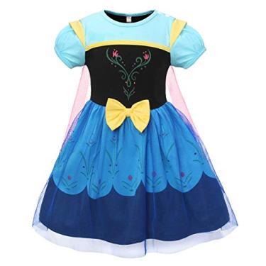 Imagem de Kantenia Bebê Vestido de Princesa menina Vestido de Fantasia Aniversário Halloween Conjunto Da Festa com Acessórios 2-12 Anos
