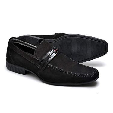 Sapato Social em Couro (37, Azul)