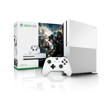 Console Xbox One S 1TB Com Jogo Gears Of War 4 Microsoft