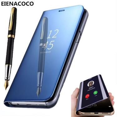 Clear View Espelho Inteligente Do Caso Da Aleta Para Samsung Galaxy A50 A51 A70 A71 Nota 20 9 10 S10