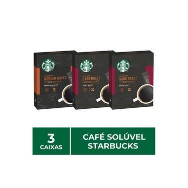 Imagem de 3 Caixas de Café Solúvel Instantâneo, Starbucks